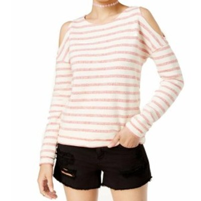 Roxy ロキシー ファッション トップス Roxy Womens Top Blouse Red Beige Size XS Pullover Stripe Cold-Shoulder