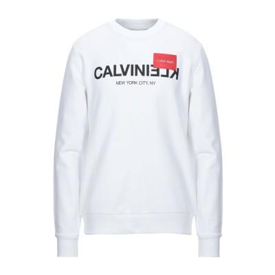 カルバン クライン CALVIN KLEIN スウェットシャツ ホワイト XL コットン 100% スウェットシャツ