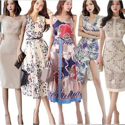 「 07/13 新作追加r」 高品質 韓国ファッション OL、正式な場合、礼装ドレス セクシーなワンピース、一字肩 二点セット、側開、深いVネック やせて