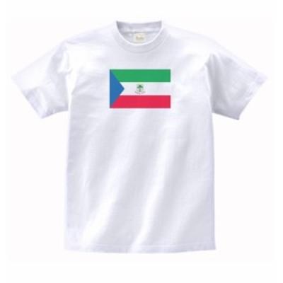 国 国旗 Tシャツ 赤道ギニア 白