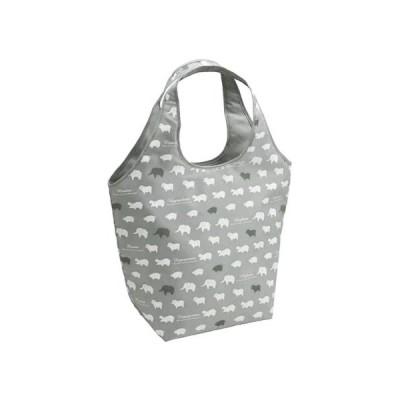 エコバッグ ショッピングバッグ 保冷 アニマル グレー ( トートバッグ 買い物バッグ 保冷バッグ )