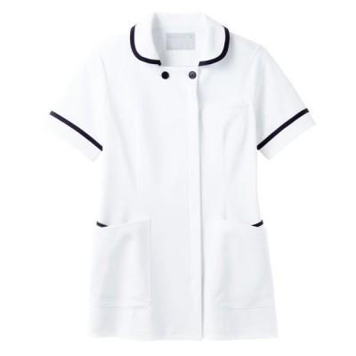 住商モンブラン住商モンブラン ナースジャケット(半袖) 医療白衣 レディス 白/ネイビー 3L 73-1808(直送品)