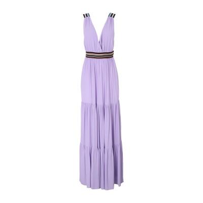 SUOLI ロングワンピース&ドレス ライラック 40 レーヨン 100% ロングワンピース&ドレス