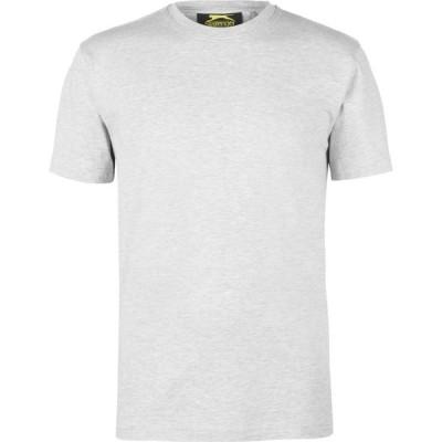 スラセンジャー バンガー Slazenger Banger メンズ Tシャツ トップス Plain T Shirt Grey Marl