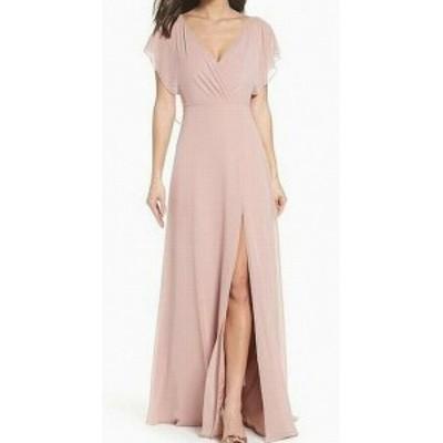 Jenny Yoo ジェニーヨー ファッション ドレス Jenny Yoo NEW Pink Womens Size 12 V-Neck Tie Back Sheath Dress