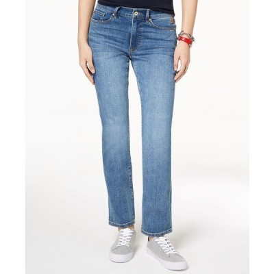トミー ヒルフィガー デニムパンツ ボトムス レディース Straight-Leg Jeans Enc Wash
