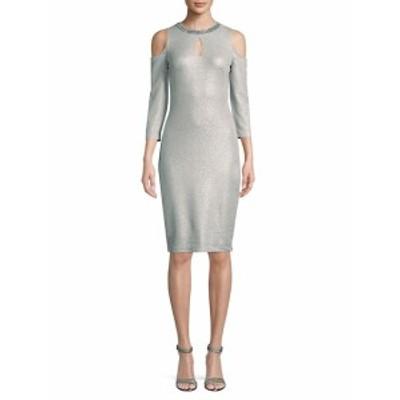ジャックスブラックラベル レディース ワンピース Embellished Cold-Shoulder Bodycon Dress