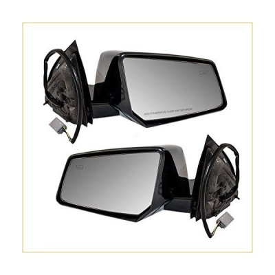 Aftermarket Replacement Driver and Passenger Power Side View Mirrors Heated Ready-to-Paint Compatible with Traverse Acadia Outlook 25894453 25894454
