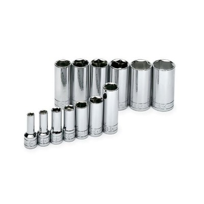 SK Hand Tool 4413 13 pc.6-Point Deep Fractional Socket Set【並行輸入品】