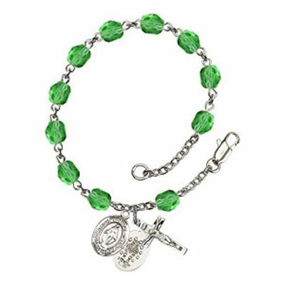 Bonyak Jewelry ブレスレット ジュエリー Bonyak Jewelry Miraculous Silver Plate Rosary Bracelet 6mm A
