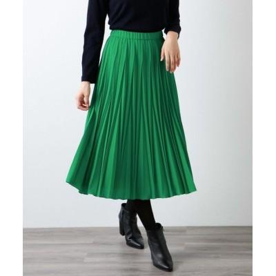 AMACA/アマカ *STORY掲載*パウダーストレッチクレープスカート グリーン3 38