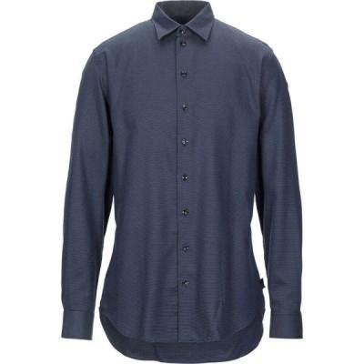 アルマーニ ARMANI COLLEZIONI メンズ シャツ トップス patterned shirt Dark blue