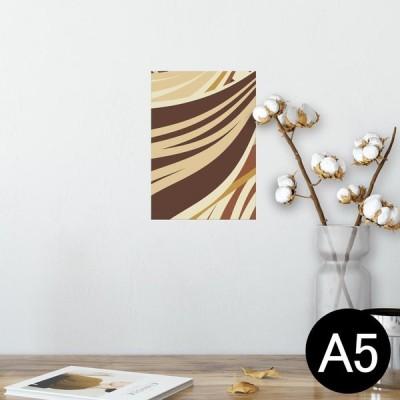 ポスター ウォールステッカー シール式 148×210mm A5 写真 壁 インテリア おしゃれ wall sticker poster 茶色 ブラウン 模様 006546