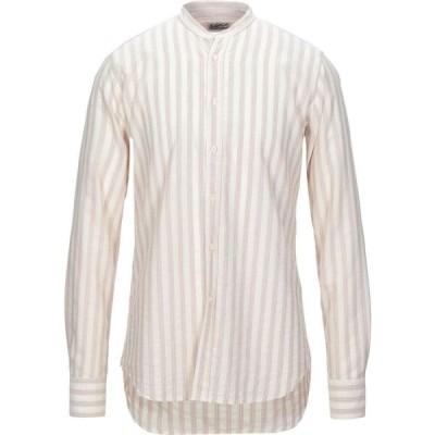 ベヴィラクア BEVILACQUA メンズ シャツ トップス striped shirt Ivory