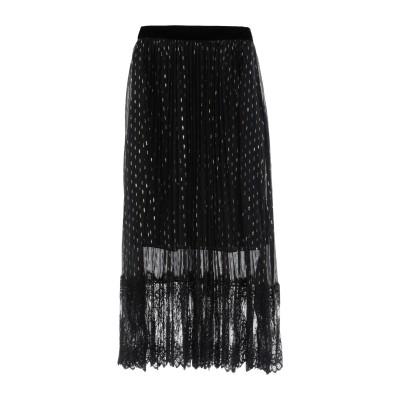 PERSEVERANCE 7分丈スカート ブラック 4 シルク 97% / 金属繊維 3% 7分丈スカート