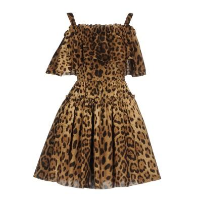 ドルチェ & ガッバーナ DOLCE & GABBANA ミニワンピース&ドレス ブラウン 36 コットン 100% ミニワンピース&ドレス