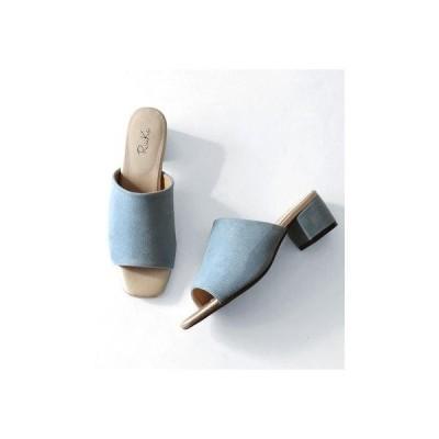 リーカ RiiiKa シンプルミュールサンダル (blue)