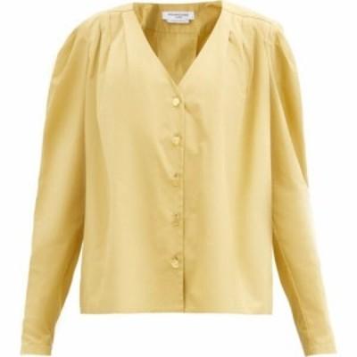 フランソワーズ Francoise レディース ブラウス・シャツ トップス Puffed-shoulder cotton-poplin shirt Beige