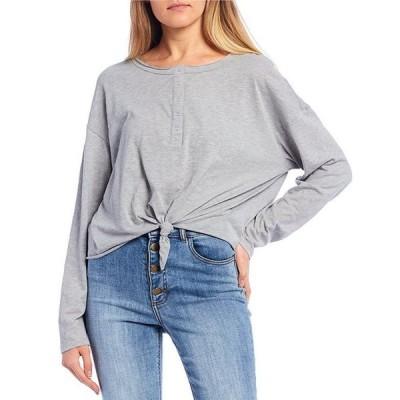 ジービー レディース Tシャツ トップス Knit Henley Long-Sleeve Top