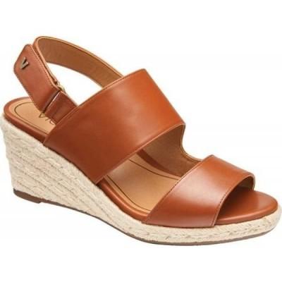 バイオニック Vionic レディース サンダル・ミュール ウェッジソール シューズ・靴 Brooke Wedge Slingback Cognac Leather