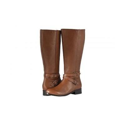 Trotters トロッターズ レディース 女性用 シューズ 靴 ブーツ ロングブーツ Liberty Wide Calf - Cognac Soft Tumbled Leather