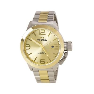 腕時計 ティダブルスティール TW Steel CB52 Gent's Canteen Gold Dial TT Yellow Gold Steel Watch