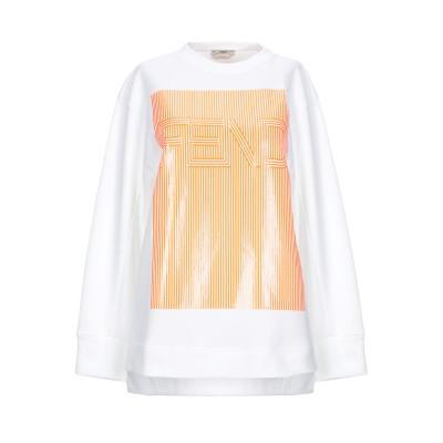 フェンディ FENDI スウェットシャツ ホワイト 42 コットン 93% / ナイロン 7% スウェットシャツ
