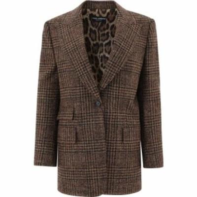 ドルチェandガッバーナ Dolce and Gabbana レディース スーツ・ジャケット アウター All-Over Check Blazer Brown