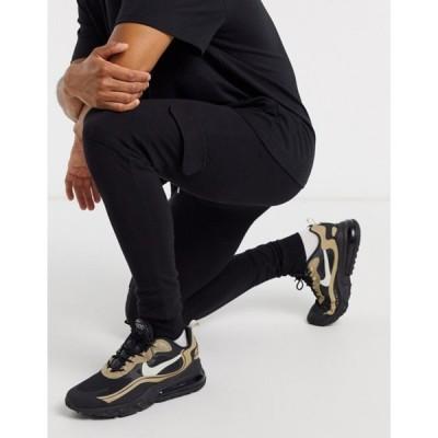 エイソス メンズ カジュアルパンツ ボトムス ASOS DESIGN super skinny cargo sweatpants in black