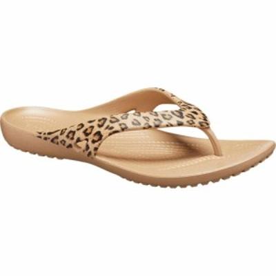 クロックス Crocs レディース ビーチサンダル シューズ・靴 Kadee Flip-Flop Leopard/Gold