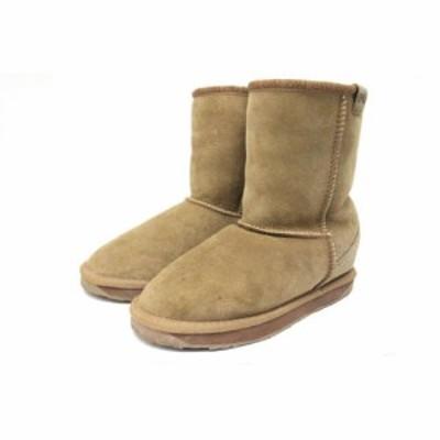 【中古】エミュー emu ムートンブーツ ショートブーツ 靴 シューズ 23 茶 ブラウン /ZT2 レディース