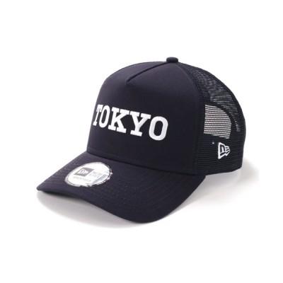帽子屋ONSPOTZ / ニューエラ メッシュキャップ 9FORTY TOKYO LOGO2 ネイビー NEW ERA MEN 帽子 > キャップ