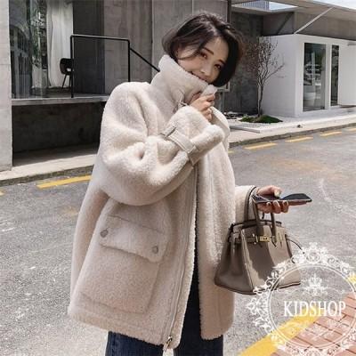 ファーコート フェイクファー レディース アウター ジャケット ファー コート もこもこ 人気 カジュアル 秋 冬 毛 シンプル 上品 暖かい 女性 防寒 30代 40代