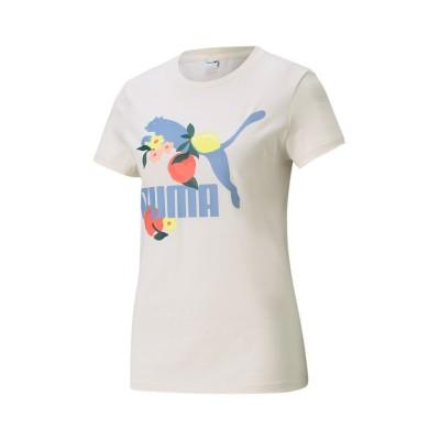【プーマ】 CLASSICS グラフィックス レギュラーフィット グラフィック Tシャツ ウィメンズ レディース EGGNOG M PUMA