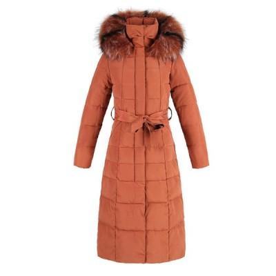 ロング丈 中綿コート レディース スリム ダウンコットン 中綿ジャケット 厚手 冬 ファーフード付き ベスト付き 細身 お洒落 防風