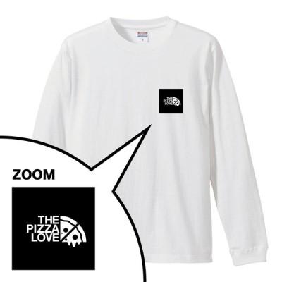 ピザ ロンT 長袖 「THE PIZZA LOVE / POINT LOGO ブラック」