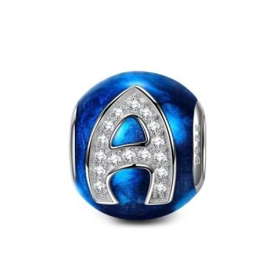 チャーム ブレスレット バングル用 Nina Queen スタイル ニーナ クイーン デザイン NinaQueen 925 Sterling Silver Bead Letter Charms for Pandora Bracelet Ne