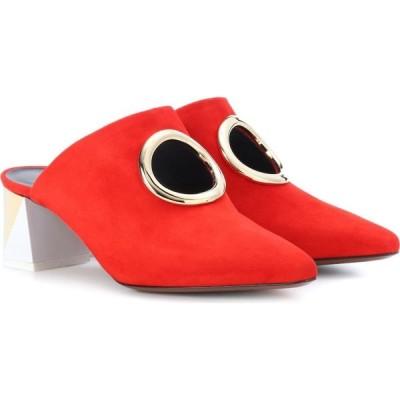 ネオアス Neous レディース サンダル・ミュール シューズ・靴 Pleione suede mules Red/Gold/White