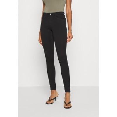 モンキ レディース デニムパンツ ボトムス DELUXE - Jeans Skinny Fit - black dark quick rinse black dark quick rinse