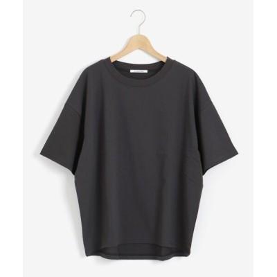 le.coeur blanc/ルクールブラン HEAVY天竺ワイドシルエットTシャツ D/グレー 38