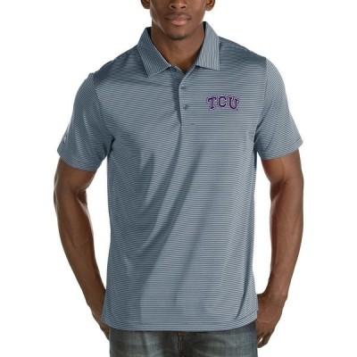 アンティグア メンズ ポロシャツ トップス NCAA Quest Short-Sleeve Polo Shirt TCU Horned Frogs/Grey
