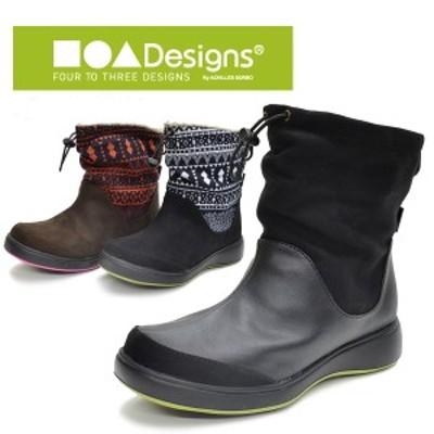 アキレスソルボ レディース 冬靴 冬 靴 スノーブーツ スノーシューズ ブーツ フォートゥースリーデザインズ ウインター クッション性 ら