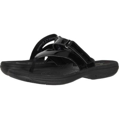 クラークス Clarks レディース ビーチサンダル シューズ・靴 Brinkley Marin Black Synthetic Patent