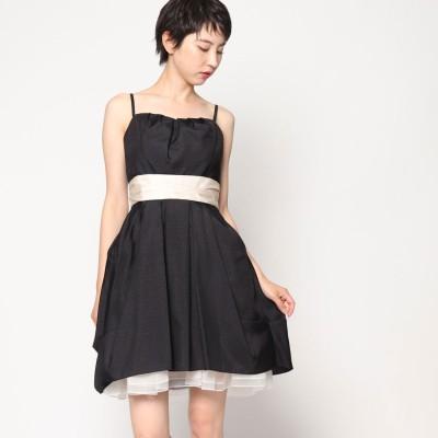 ジュネビビアン Genet Vivien ドット柄ドレス (ブラック)