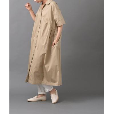 【アールピーエス】 pura オープンカラーシャツワンピース レディース ベージュ M rps