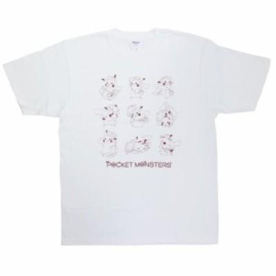 劇場版ポケットモンスター キャラクター Tシャツ T-SHIRTS ピカチュウいっぱい ホワイト ポケモン キャラクター グッズ メール便可
