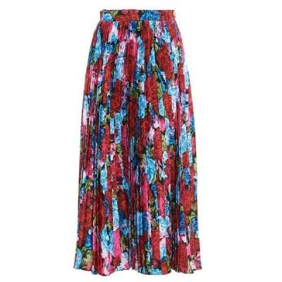 ヴェルサーチ レディース スカート ボトムス Versace Floral Printed Pleated Midi Skirt -