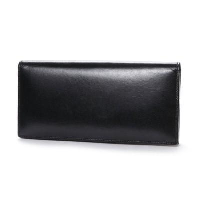オティアス Otias ベジタブルタンニンなめしバッファローレザー 二つ折り長財布/かぶせウォレット (ブラック)