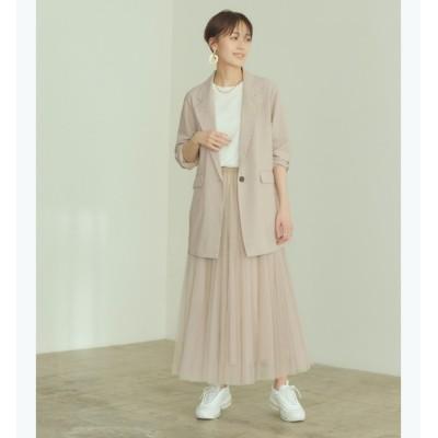 【ティティベイト/titivate】 ウエストゴムチュールロングスカート