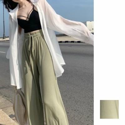 韓国 ファッション レディース セットアップ 夏 春 カジュアル naloI040  シアー ガウン クロス キャミ ドレープ ラフ シンプル コーデ